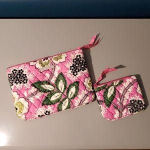 Vera Bradley  Priscilla Pink makeup & coin purse